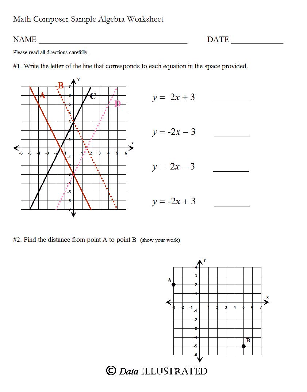 برنامج الرياضيات Math Composer Algebra_WS1_p1